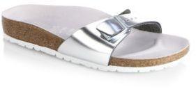Birkenstock Leather Madrid Slide Sandals $190 thestylecure.com