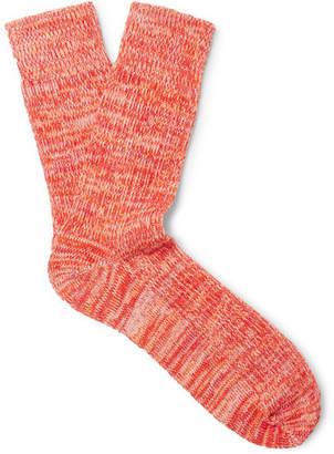 Albam Mélange Cotton-Blend Socks