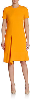 Reed Krakoff Short-Sleeve Asymmetrical-Pleat Dress