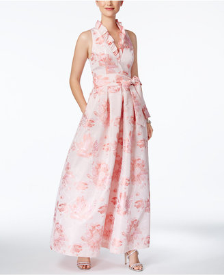 Jessica Howard Floral-Print A-Line Gown $179 thestylecure.com