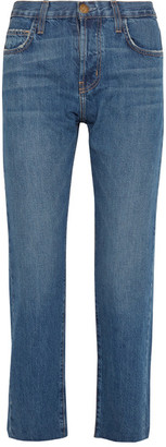 Current/Elliott - The Original Straight Cropped Mid-rise Jeans - Light denim $240 thestylecure.com
