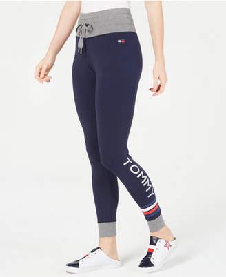 Tommy Hilfiger Logo Drawstring-Waist Leggings, Created for Macy's