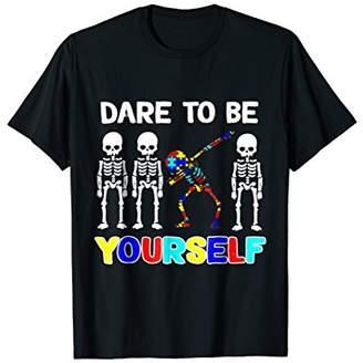 Sleketon Dabbing Autism Awareness Dare To Be Yourself Tshirt