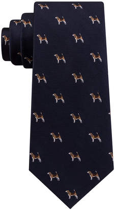 Club Room Men's Hunting Dog Silk Tie, Created for Macy's