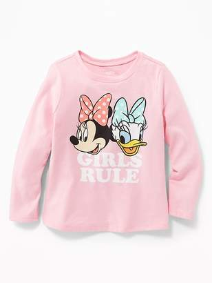 "Old Navy Disney© Minnie Mouse & Daisy Duck ""Girls Rule"" Tee for Toddler Girls"