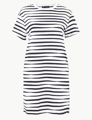 Marks and Spencer PETITE Pure Cotton T-Shirt Dress