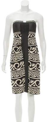 Nicole Miller Printed Silk Dress