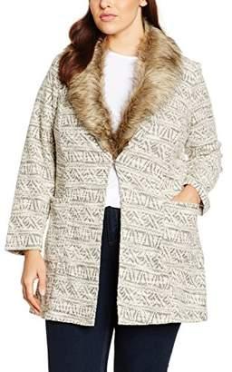 Evans Women's Fur Textured Throw on Coat