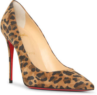 Christian Louboutin Kate 100 suede leopard pumps
