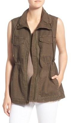Women's Velvet By Graham & Spencer Cotton & Linen Military Vest $218 thestylecure.com