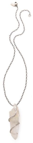 Pamela love Quartz Crystal Python Necklace