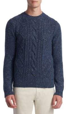 Saks Fifth Avenue COLLECTION Fisherman Trapp Sweater