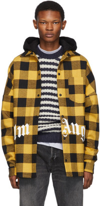 Palm Angels Yellow Checked Shirt