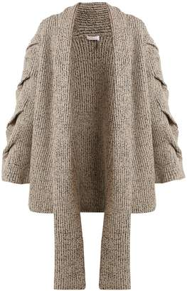 See by Chloe Oversized cable-knit cardigan