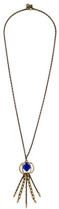 Lulu Frost Crystal Tassel Pendant Necklace $95 thestylecure.com