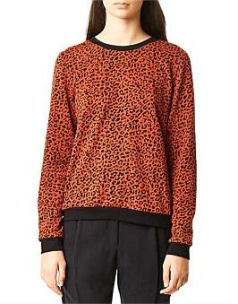 Kate Sylvester Leopard Sweatshirt
