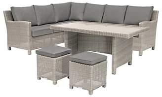Kettler Palma 8 Seater Garden Corner Set With Glass Top Table