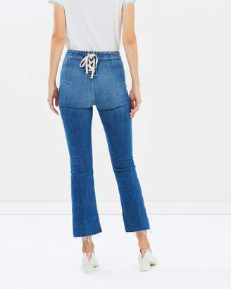 Mother The Laced Hustler Crop Jeans