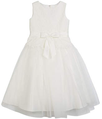 Joan Calabrese Lace Bodice & Tulle Skirt Tea-Length Dress, Size 2-14