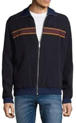Alexander McQueen Striped Full-Zip Jacket
