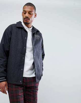 Vans Torrey Varsity Jacket In Charcoal