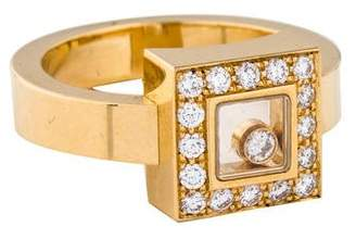 Chopard 18K Happy Diamonds Square Ring