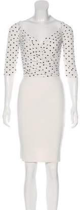 Chiara Boni Mini Sheath Dress White Mini Sheath Dress