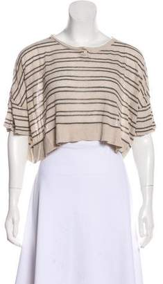Alexander Wang Striped Crop Top