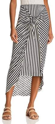 Splendid x Margherita Tie-Front Striped Sarong Skirt