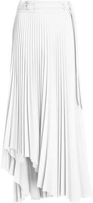 A.W.A.K.E. Mode Pleated Asymmetric Midi Skirt Size: 40