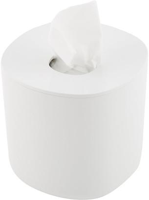 Alessi Birillo Round Tissue Box - White