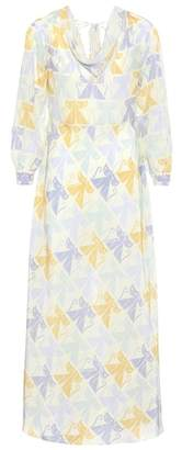 Miu Miu Printed silk dress