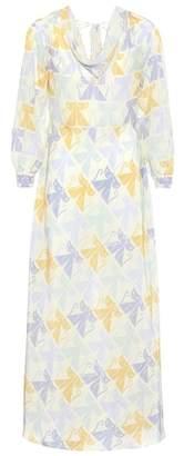 Miu Miu Printed silk dress
