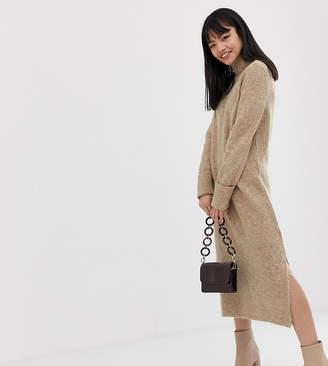 Asos DESIGN Petite sweater dress in midi length with side splits