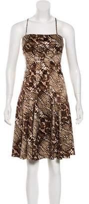 Just Cavalli Printed Knee-Length Dress