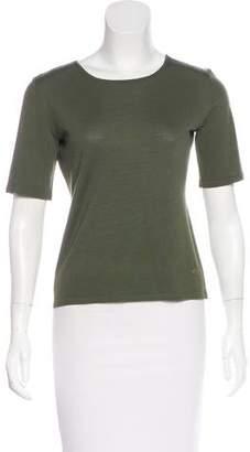 Rena Lange Wool Short Sleeve Top