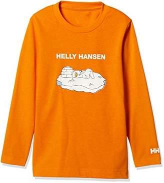 Helly Hansen (ヘリー ハンセン) - [ヘリーハンセン] K L/S Bear Tee HJ31851 キッズ チェダーオレンジ 日本 120 (日本サイズ120 相当)