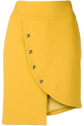 Genny fitted button skirt