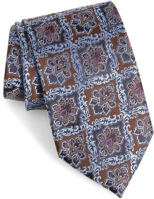 Ermenegildo Zegna Medallion Silk X-Long Tie