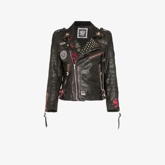 Rockins Custom details leather biker jacket