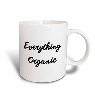 3dRose EVERYTHING ORGANIC - Ceramic Mug, 15-ounce