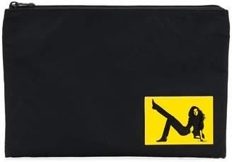 Calvin Klein Jeans Est. 1978 logo patch clutch bag