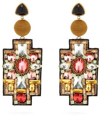 Lizzie Fortunato Madonna Bead Embellished Drop Earrings - Womens - Multi