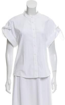 Veronica Beard Short Sleeve Button-Up Top