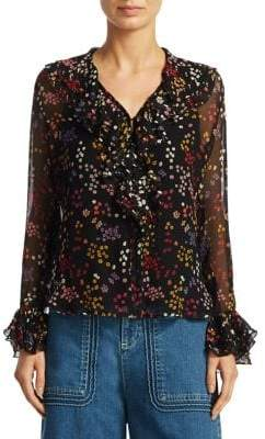 See by Chloe Silk-Blend Floral Blouse