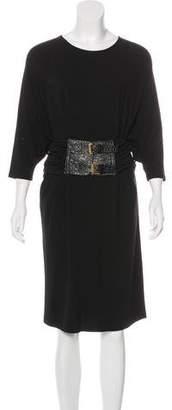 Michael Kors Belted Knee-Length Dress