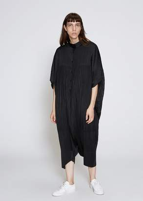 Pleats Please Issey Miyake Bold Square Oversized Jumpsuit