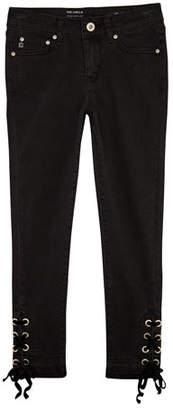 AG Jeans Luella Skinny Crop Jeans w/ Self-Tie Grommet Ankles, Size 7-14