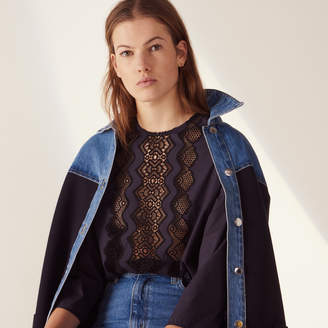 Sandro Long-sleeved top with braid trim