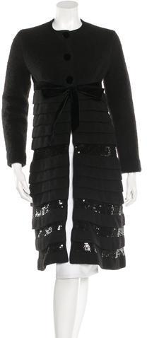 ValentinoValentino Wool & Angora-Blend Coat